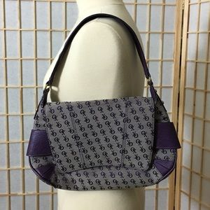 XOXO Purple Signature Shoulder Bag Purse